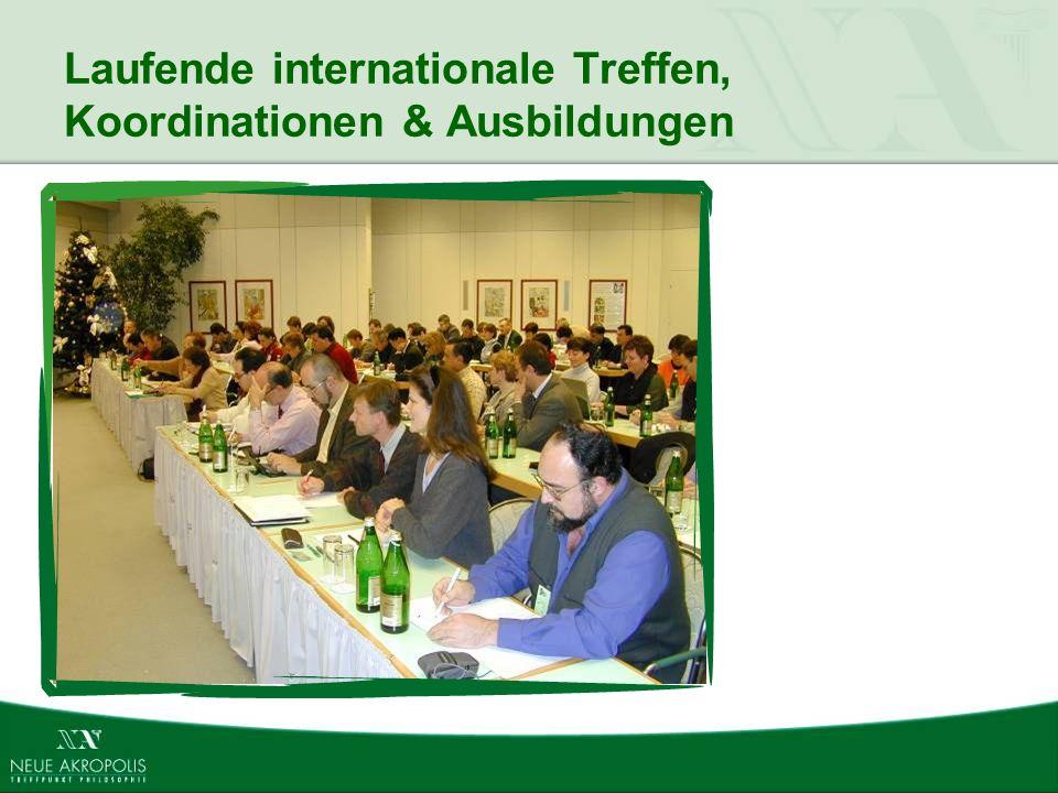 Laufende internationale Treffen, Koordinationen & Ausbildungen