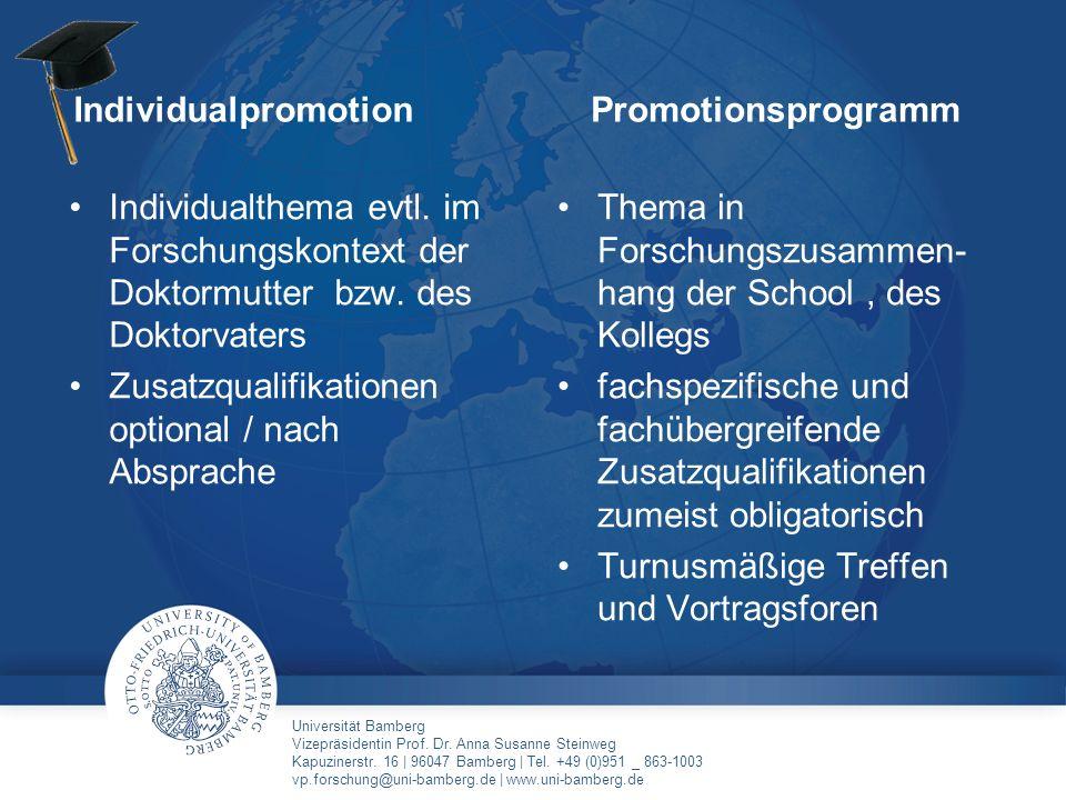 Universität Bamberg Vizepräsidentin Prof. Dr. Anna Susanne Steinweg Kapuzinerstr. 16 | 96047 Bamberg | Tel. +49 (0)951 _ 863-1003 vp.forschung@uni-bam