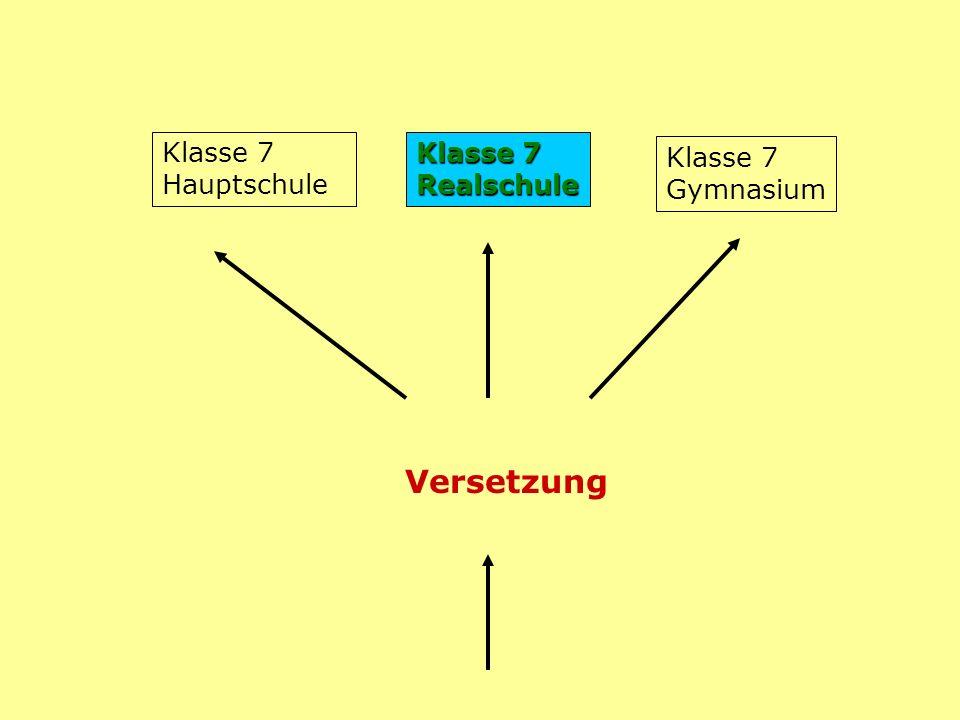 Versetzung Klasse 7 Gymnasium Klasse 7 Realschule Klasse 7 Hauptschule