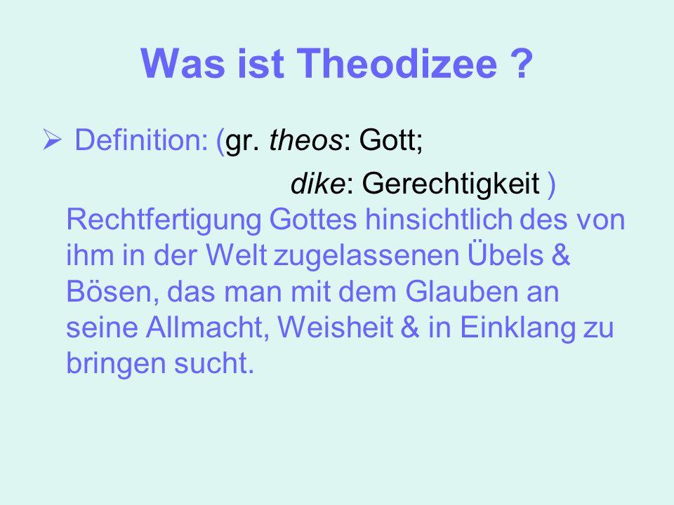 verschiedene Ansichten von Philosophen Epikur als Bsp. für die Antike Augustinus Leibniz