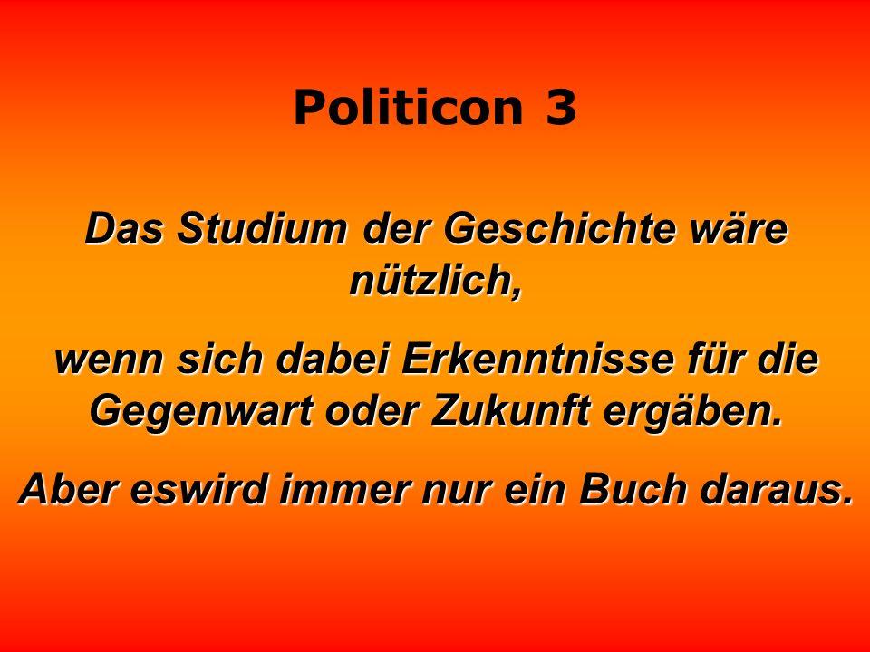 Politicon 3 Das Ausmaß der Korruption ist am Gewicht der Politiker zu messen.