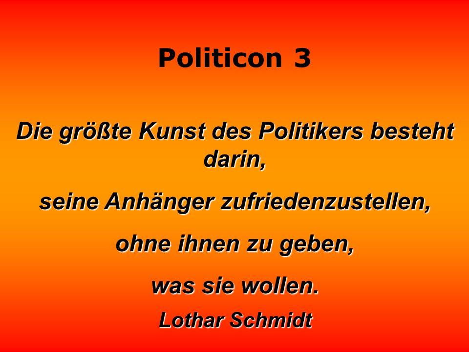 Politicon 3 Der Unterschied zwischen Politiker und Publikum: das Publikum ist unbezahlbar. Frank Elstner