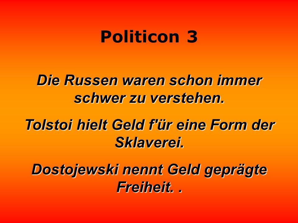 Politicon 3 Die Politiker verkaufen uns gebratenes Eis am Stil.