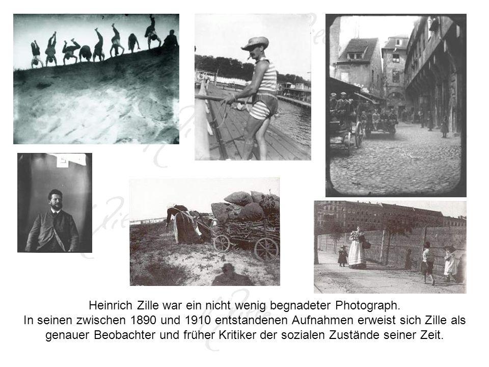 Heinrich Zille war ein nicht wenig begnadeter Photograph.