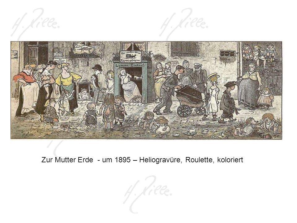 Zur Mutter Erde - um 1895 – Heliogravüre, Roulette, koloriert