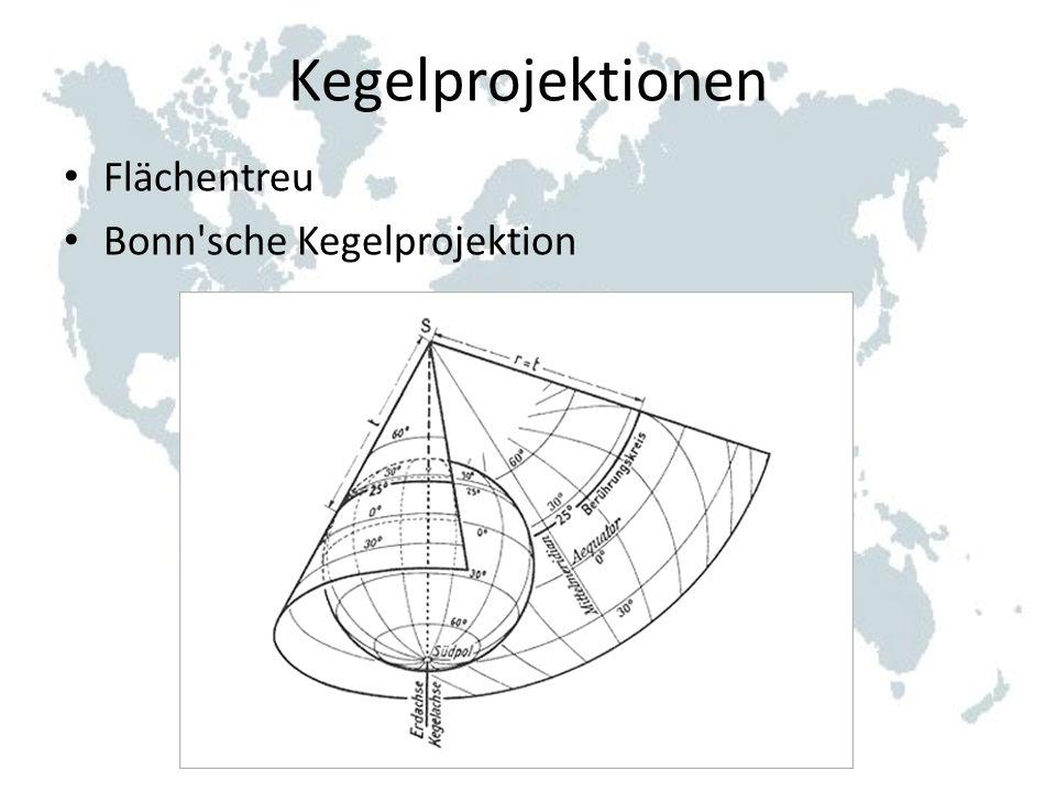 Kegelprojektionen Flächentreu Bonn'sche Kegelprojektion