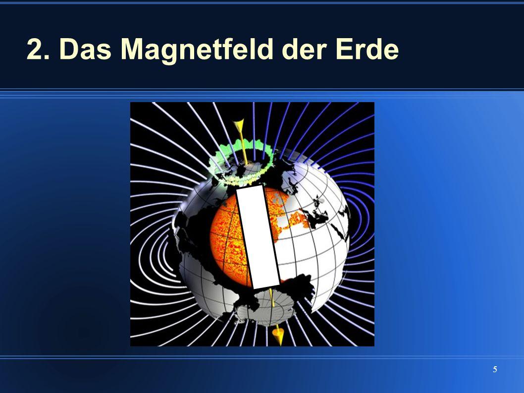 6 Eine frei bewegliche Magnetnadel stellt sich unter der Wirkung des magnetischen Feldes in Richtung der Feldlinien ein.