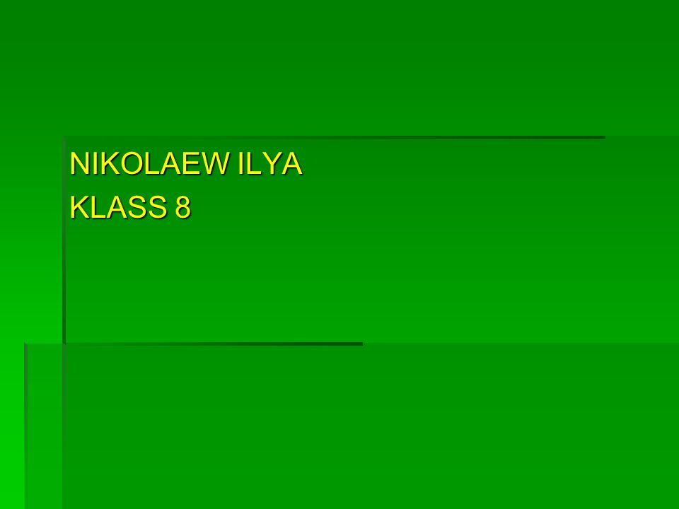 NIKOLAEW ILYA KLASS 8