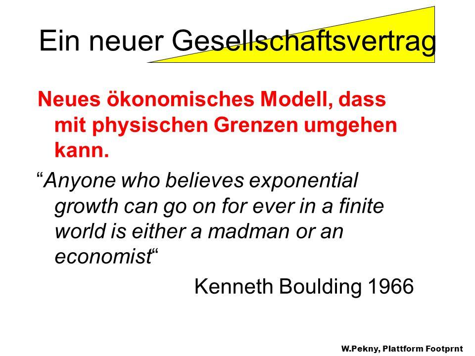 Neues ökonomisches Modell, dass mit physischen Grenzen umgehen kann. Anyone who believes exponential growth can go on for ever in a finite world is ei