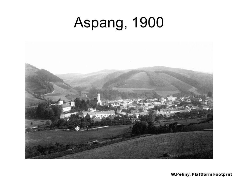 Aspang, 1900 W.Pekny, Plattform Footprnt