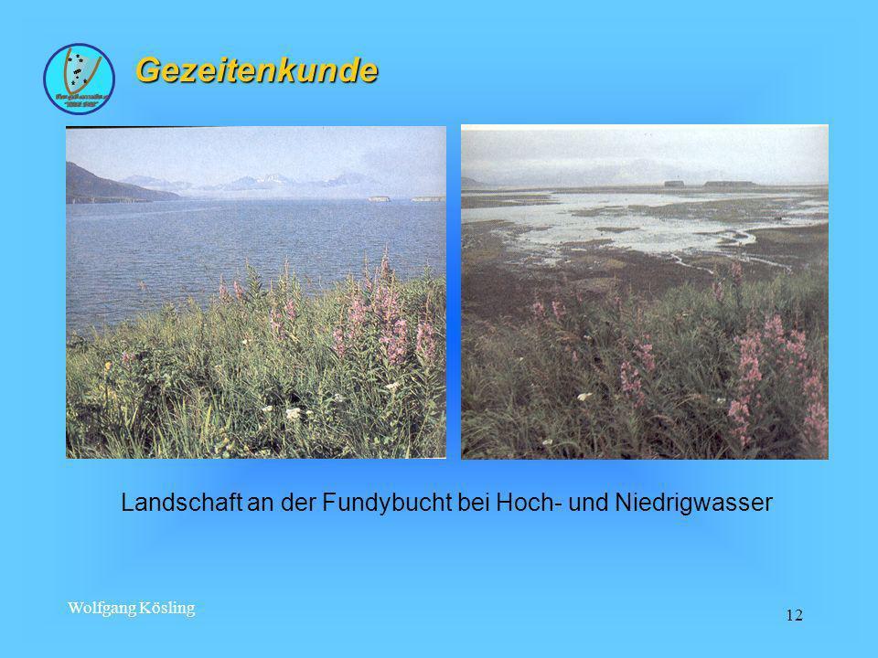 Wolfgang Kösling 12 Gezeitenkunde Landschaft an der Fundybucht bei Hoch- und Niedrigwasser