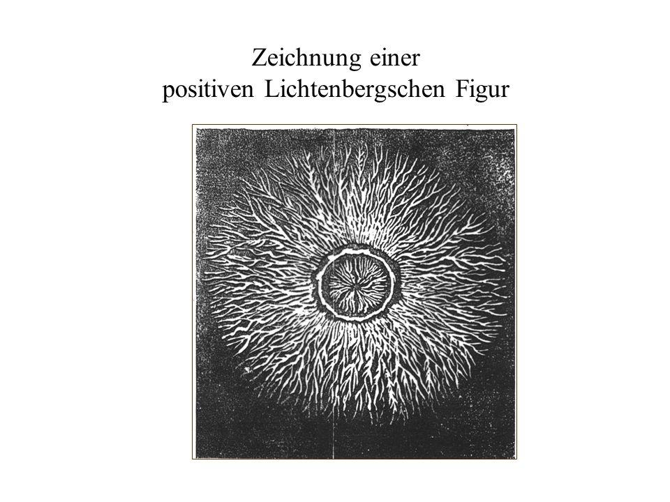 Zeichnung einer positiven Lichtenbergschen Figur