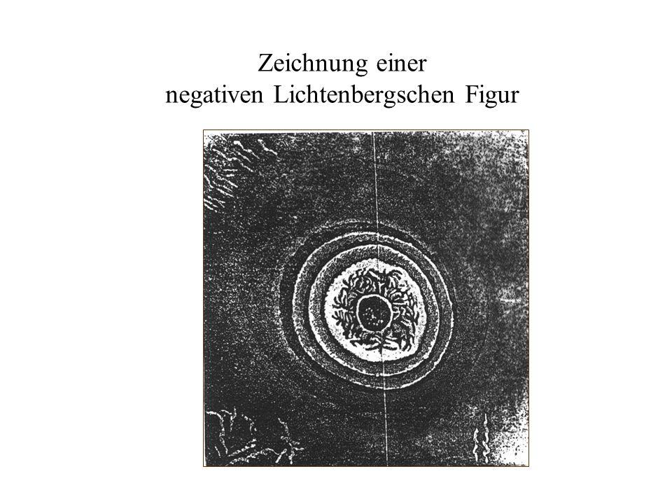 Zeichnung einer negativen Lichtenbergschen Figur
