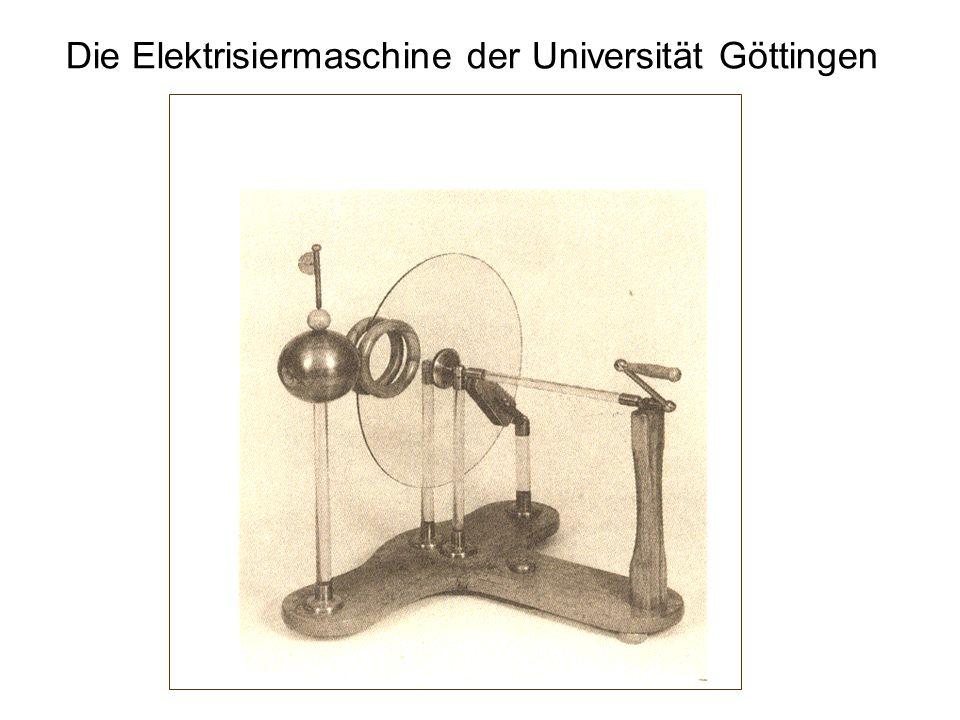 Die Elektrisiermaschine der Universität Göttingen