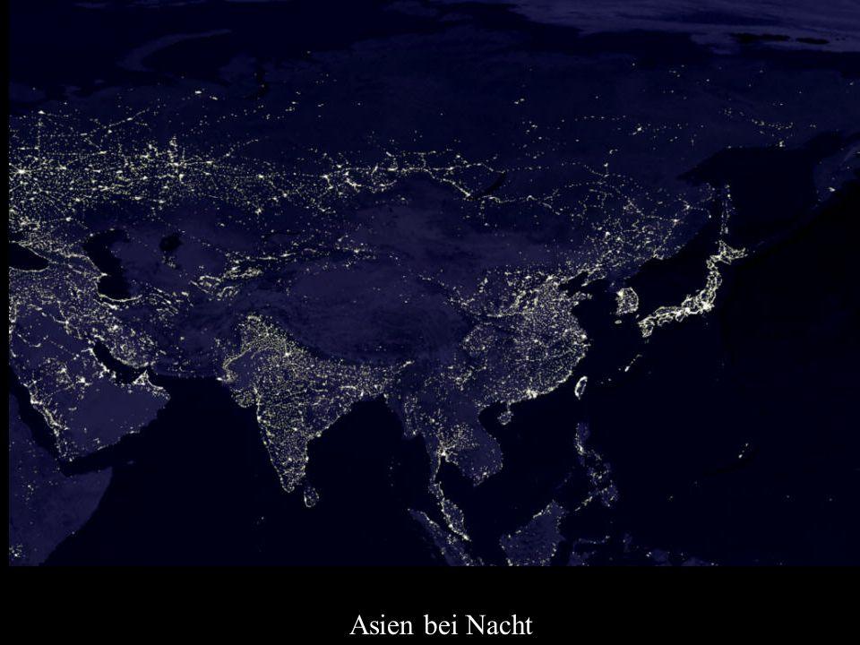 Asien bei Nacht