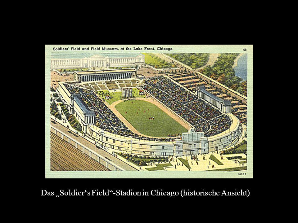 Das Soldiers Field-Stadion in Chicago (historische Ansicht)