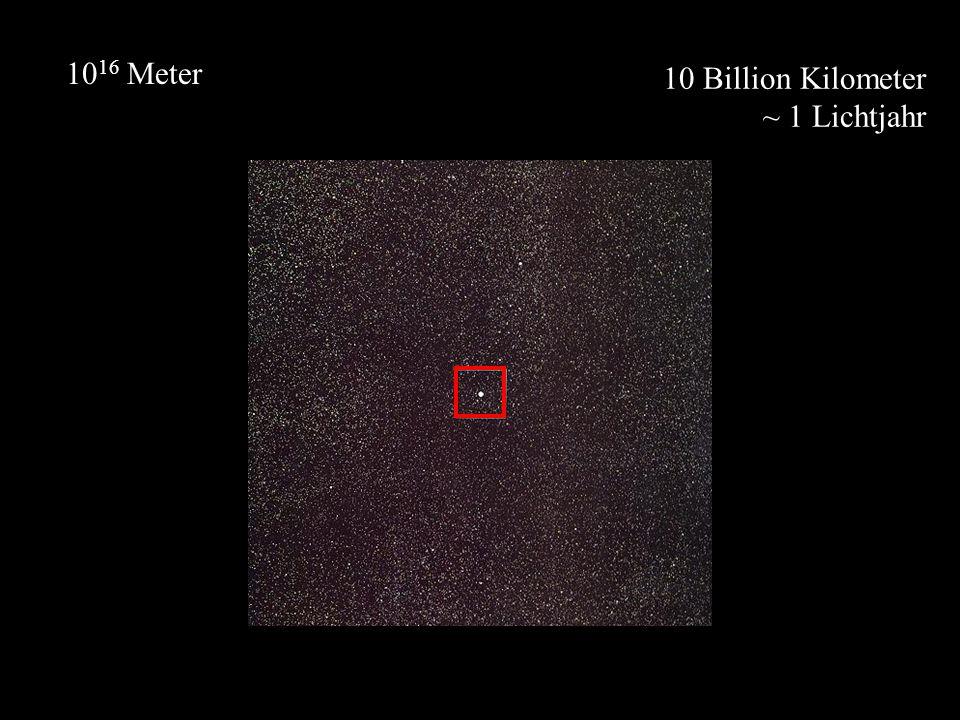10 Billion Kilometer ~ 1 Lichtjahr 10 16 Meter