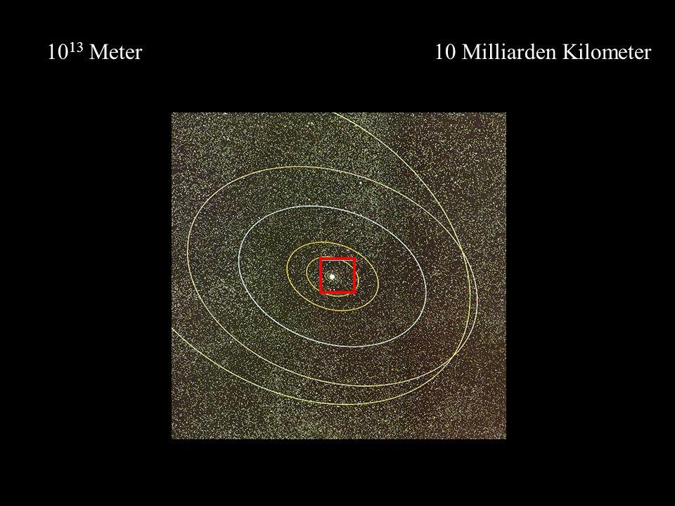 10 Milliarden Kilometer10 13 Meter