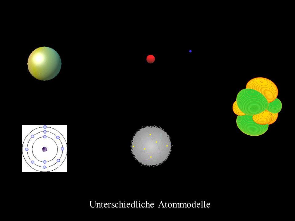 Unterschiedliche Atommodelle