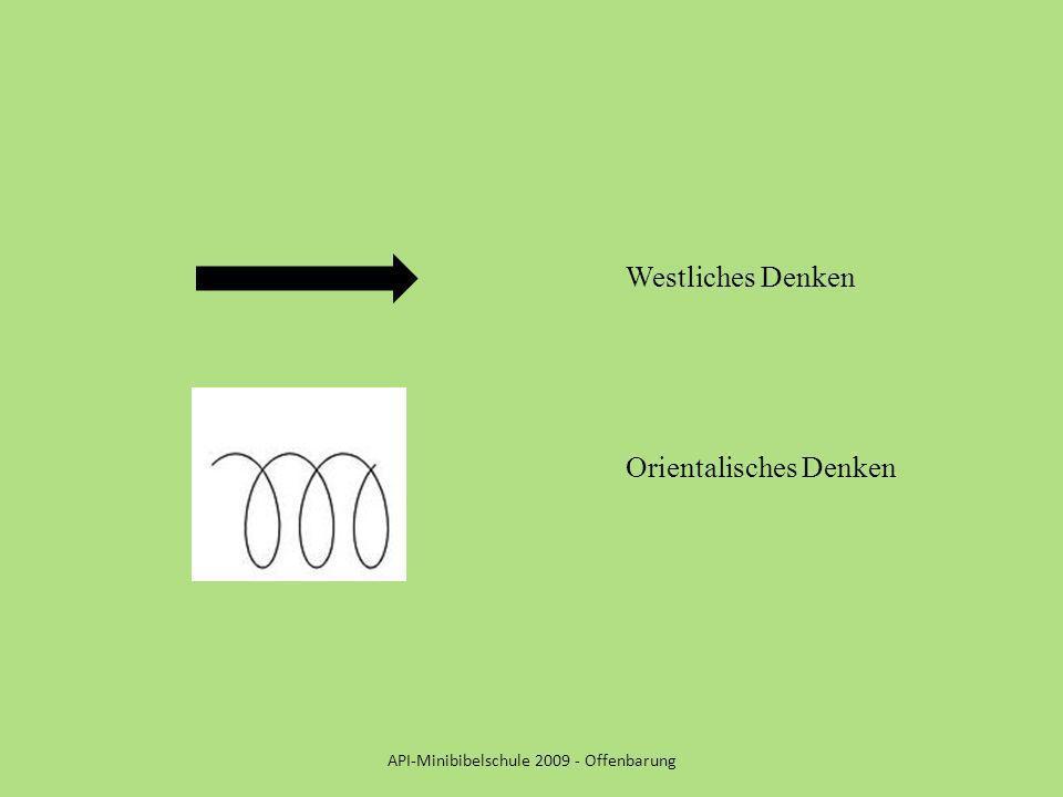 API-Minibibelschule 2009 - Offenbarung Westliches Denken Orientalisches Denken