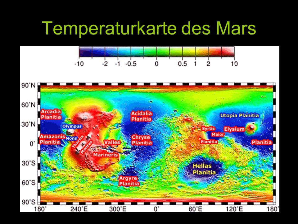 VENUS ERDE MARS Anfangs waren alle Atmosphären gleich, die Venus war zu heiß.
