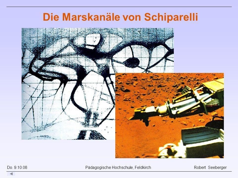 Do. 9.10.08 Pädagogische Hochschule, Feldkirch Robert Seeberger Die Marskanäle von Schiparelli