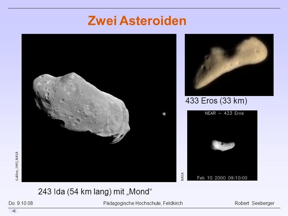 Do. 9.10.08 Pädagogische Hochschule, Feldkirch Robert Seeberger Galileo, 1993, NASA 243 Ida (54 km lang) mit Mond Zwei Asteroiden 433 Eros (33 km) NAS