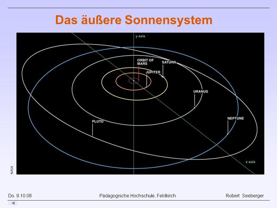 Do. 9.10.08 Pädagogische Hochschule, Feldkirch Robert Seeberger Das äußere Sonnensystem NASA
