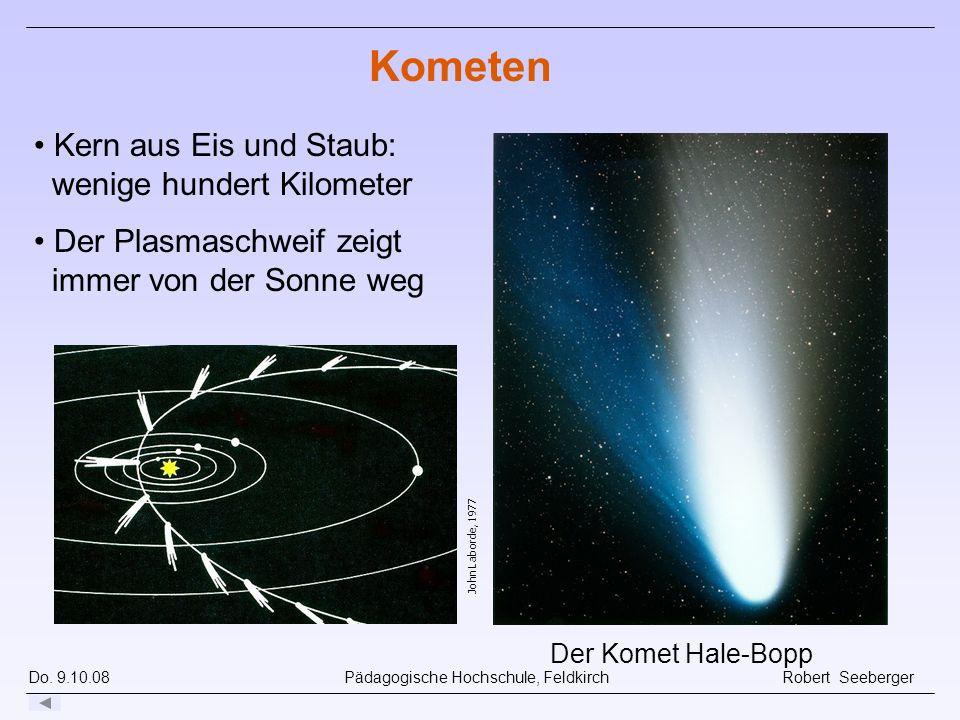 Do. 9.10.08 Pädagogische Hochschule, Feldkirch Robert Seeberger John Laborde, 1977 Der Komet Hale-Bopp Kometen Kern aus Eis und Staub: wenige hundert