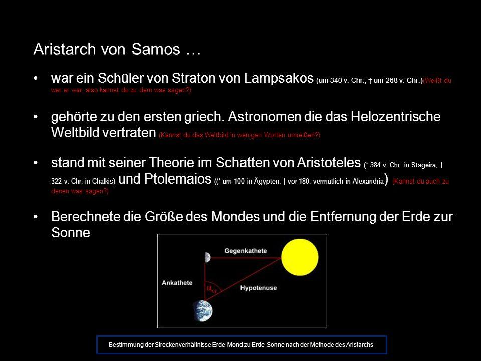 Das Heliozentrische Weltbild Nicht die Erde, sondern die Sonne steht im Zentrum des Universums (Helios, altgriech.