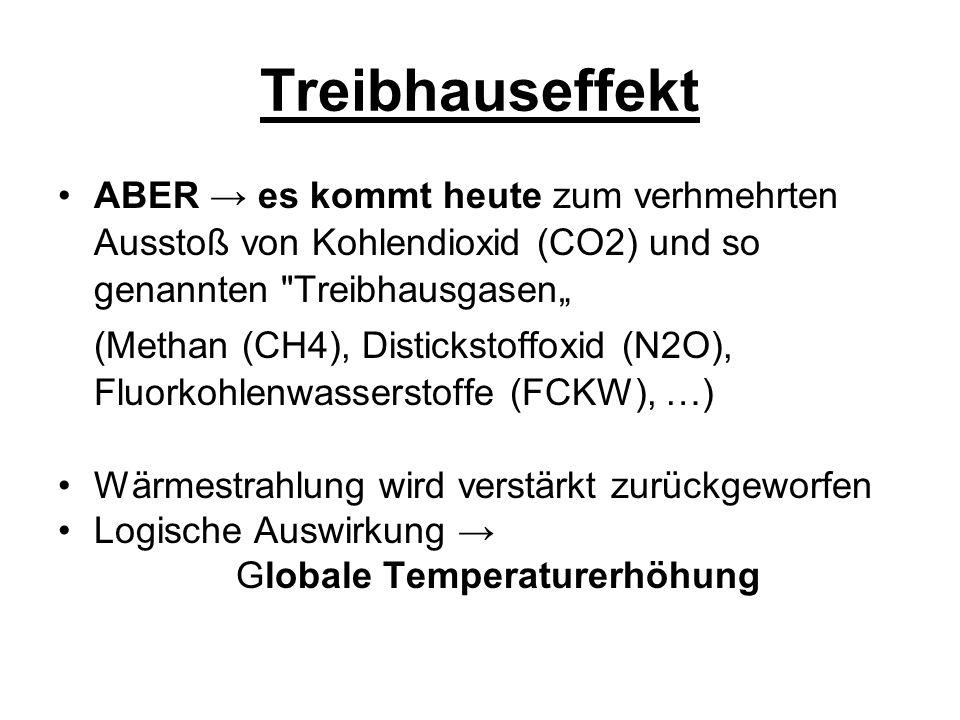 Treibhauseffekt Woher kommen die Treibhausgase.