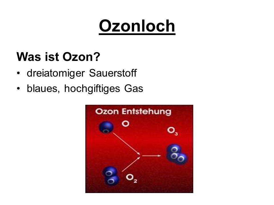 Ozonloch Was und wo ist die Ozonschicht .