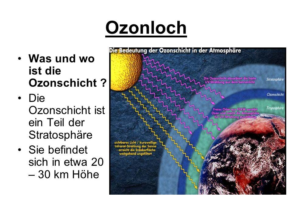 Aus der Kinderenzyklopädie: Die UV-Strahlung haut also mit viel Power zwischen die beiden Atome des normalen Sauerstoffs.