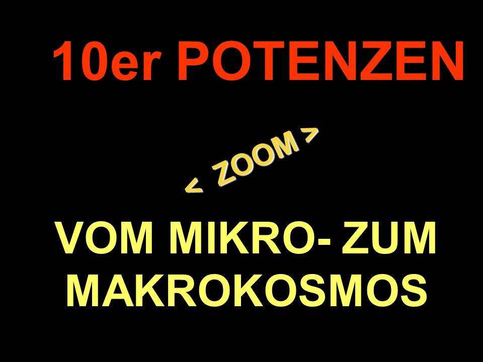 . 10er POTENZEN VOM MIKRO- ZUM MAKROKOSMOS