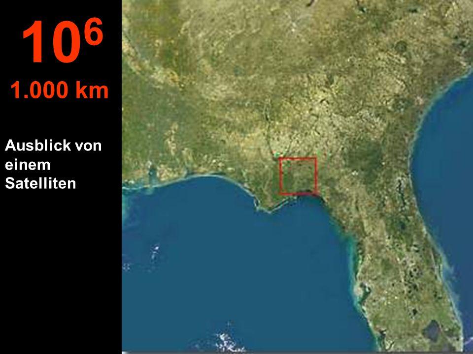 Von dieser Höhe aus sieht man den ganzen Staat Florida in USA... 10 5 100 km