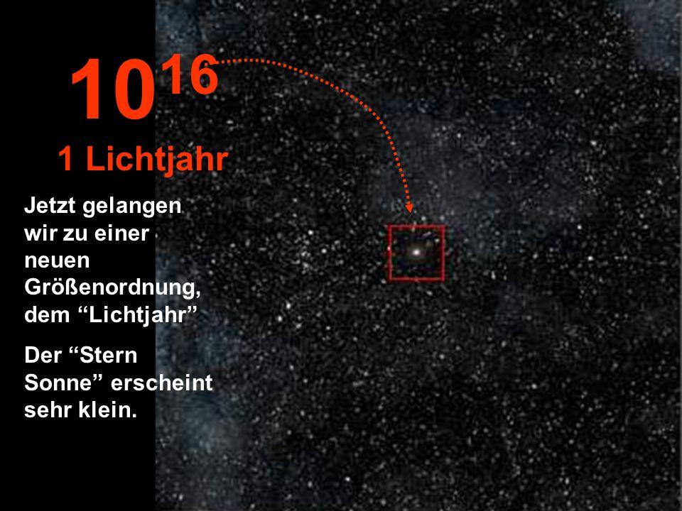 Die Sonne wird Zu einem kleinen Stern inmitten von anderen Tausenden... 10 15 1 Trillion km