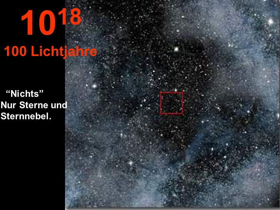 Hier sehen wir nur unendlich viele Sterne... 10 17 10 Lichtjahre