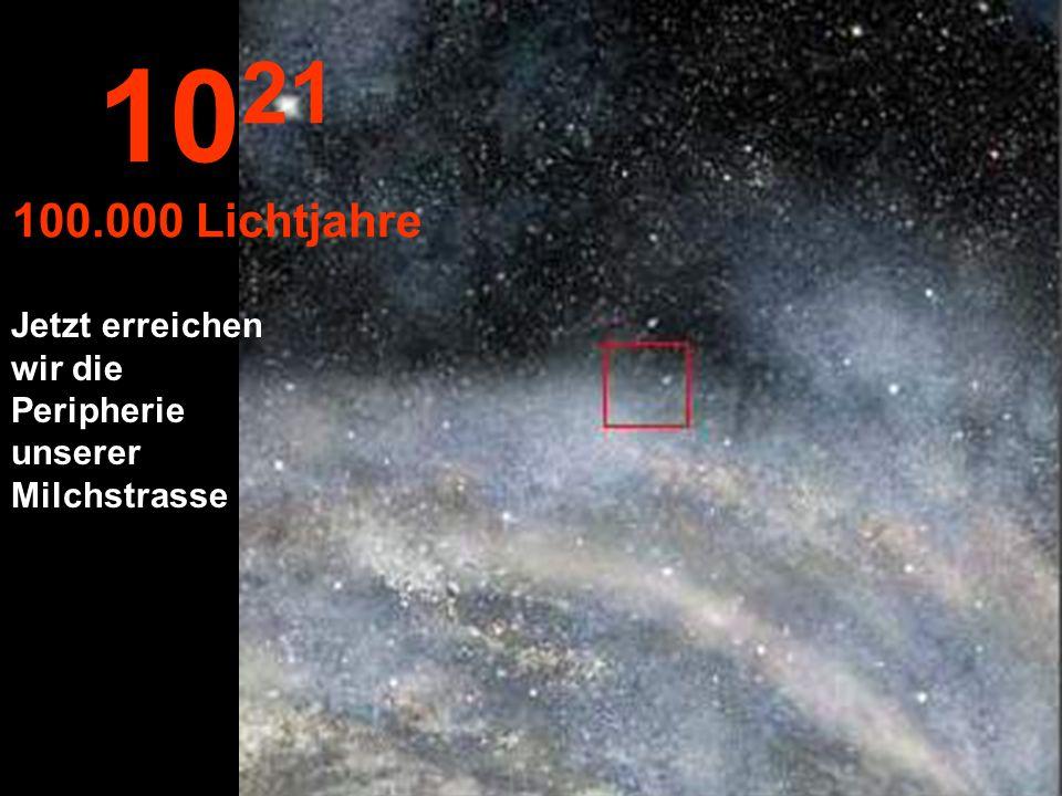 Weiter geht unsere Reise in der Milchstrasse 10 20 10.000 Lichtjahre
