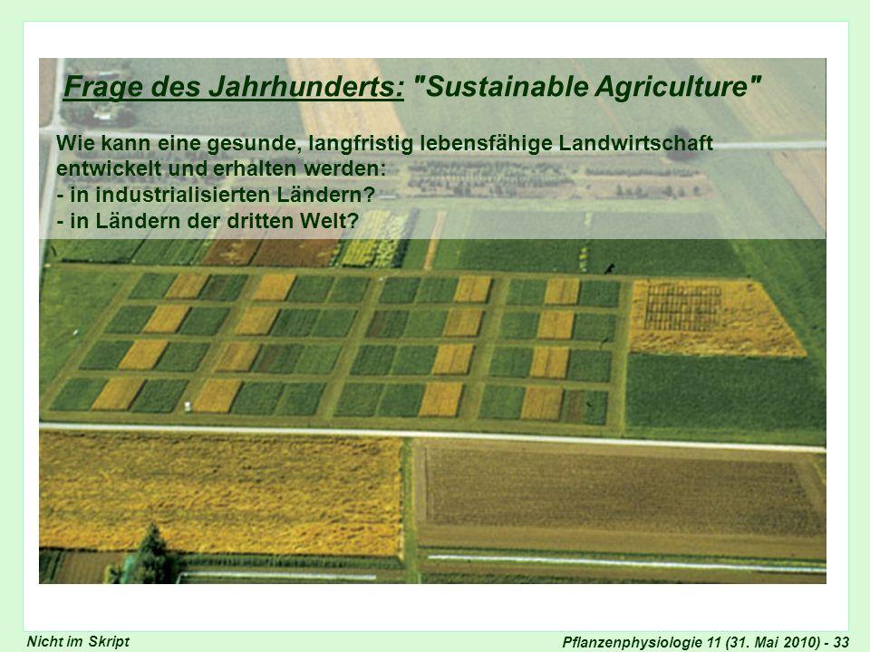 Pflanzenphysiologie 11 (31. Mai 2010) - 33 Frage des Jahrhunderts: