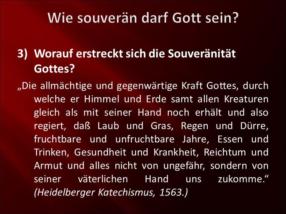 3)Worauf erstreckt sich die Souveränität Gottes? a)Er lenkt die Machthaber der Erde!