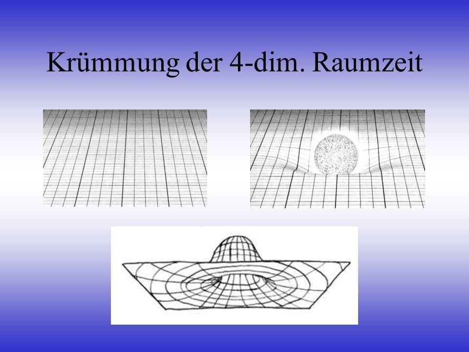 Gravitation wird verstanden als Raumzeit-Krümmung