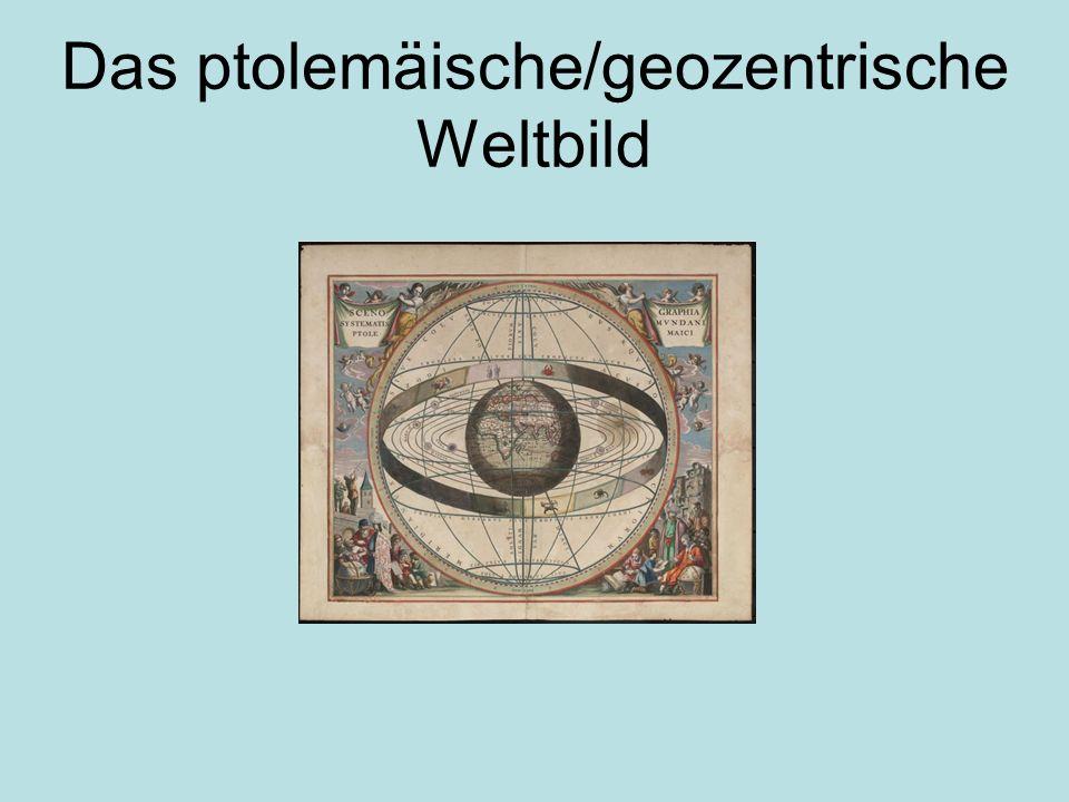 Inhaltsverzeichnis ptolemäische / geozentrischen Weltbild (Überblick) Entstehung des ptolemäischen Weltbildes Ausführliche Erläuterung Überholung des Weltbildes Schematische Darstellung