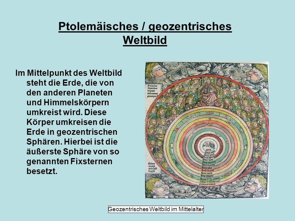 Entstehung des ptolemäischen Weltbildes Das Weltbild entstand im klassischen Altertum in Griechenland und löste die vielen unterschiedlichen existierenden Weltbilder, wie das babylonische, ab.