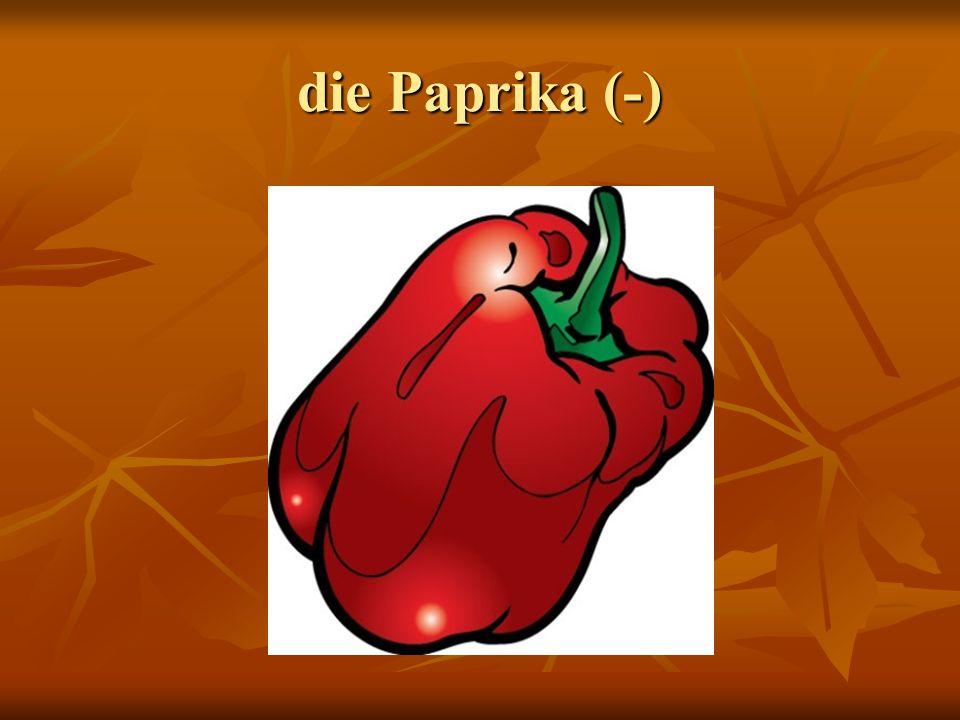 die Paprika (-)