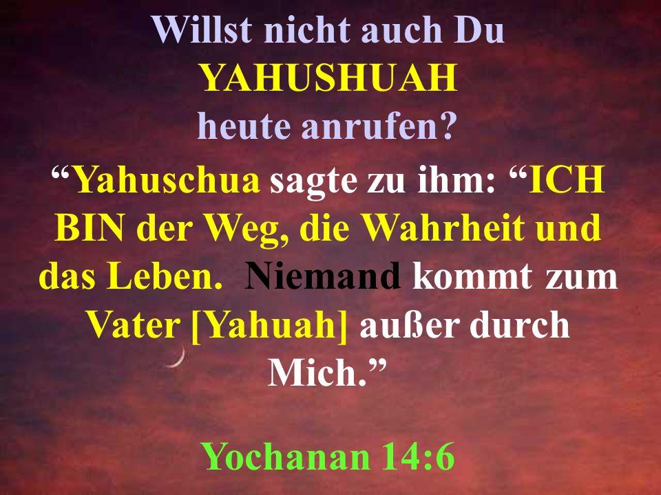 In keinem anderen ist RETTUNG! Denn es ist der Menschheit kein anderer NAME unter dem Himmel gegeben, nur durch YAHUSHUAH werden wir gerettet! MattitY