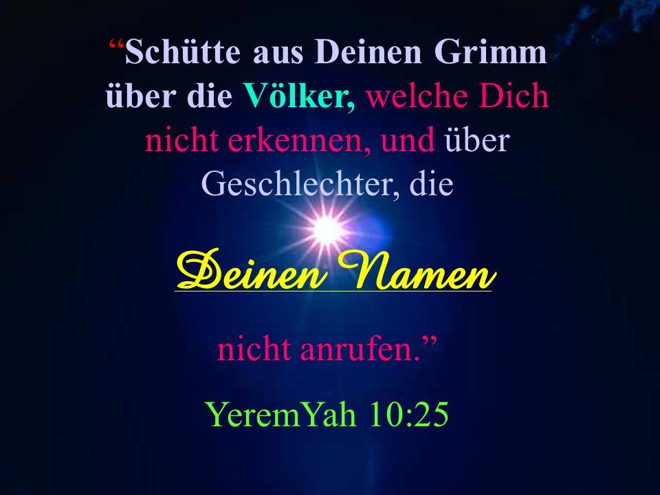 …und Mein Name ist furchtbar unter den Völkern. Maleachi 1:14