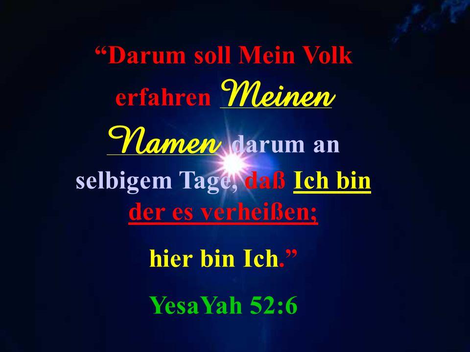 Jedoch, deswegen hab Ich dich bestehen lassen, um dir zu zeigen Meine Stärke und damit man rühme Meinen Namen auf der ganzen Erde. Schemot 9:16