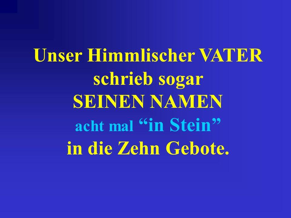 Y-H-W-H Sind die deutschen Buchstaben für das hebräische Tetragrammaton. YAHUAH schrieb Seinen Namen in Palaeo Hebräisch auf die Steintafeln der Zehn