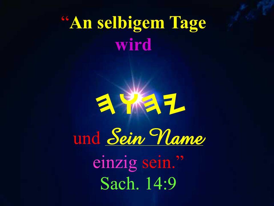 das ist MeinName; und Meine Herrlichkeit geb Ich keinem anderen, noch Meinen Ruhm den Götzenbildern. YesaYah. 42:8 HWHY Ich bin