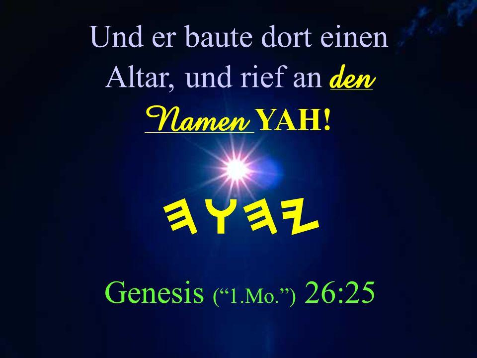 Yahuah YAHU-SHUAH bedeutet: Yahuah Rettet